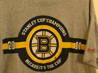 Boston Bruins Stanley Cup Champions Coor Light Gray T shirt Men's Large
