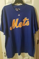 Men's Majestic Royal New York Mets Size 2XL Cotton Tee New with Tags Citifield