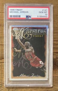 🔥🏀🔥 1996-97 Topps FINEST SILVER Peeled Michael Jordan PSA 10 GOAT 🔥🏀🔥