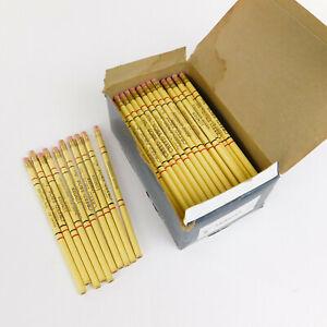 Vintage Ruwe Pencils #2 Unused Advertising Creed Bros Peekskill NY 117 Piece Box