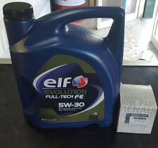 KIT FILTRO OLIO ORIGINALE(knecht) + 5 LITRI ELF 5W30 RENAULT CLIO IV 1.5 DCI