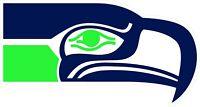 Seattle Seahawks Decal ~ Car / Truck Vinyl Sticker - Wall Graphics, Cornholes