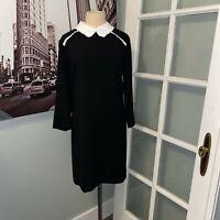 Cece By Cynthia Steffe Shift Dress Women's Black & White Collar Size 14