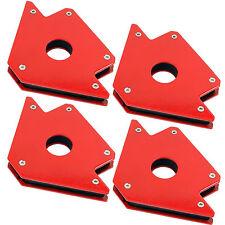 Set of 4 50lb Magnetic Welding Holders Welder Magnet Arrows 3 Angles Hold Solder