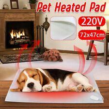 Electric Pet Cat Dog Heating Mat Cushion Warm Bed Pad Blanket Mattress 72X47cm
