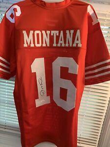 Joe Montana #16 Signed 49ers Jersey Autographed Sz XL JSA COA HOF AUTO