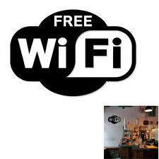 Free WIFI Café Shop Public Wall Sticker Decal Quote Vinyl Home Room Wall Decor
