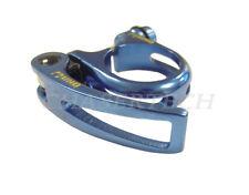 "New Uno MTB Bike Seat Post Clamp 34.9mm 1-3/8""  w/ Quick Release Vista Blue"