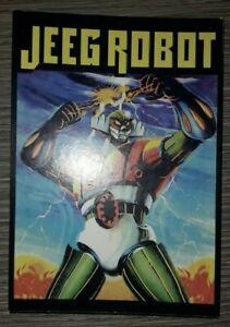 Cartoncino pubblicitario JEEG ROBOT  formato cartolina 11 X 16 CM MOD 2