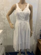 Anthropologie Leifsdottir Lila White Eyelet Lace Dress Size 2