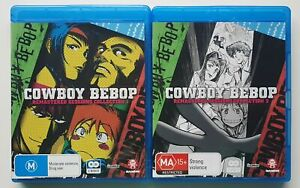 Cowboy Bebop Blu Ray remastered Sessions 1, 2 Anime Classic