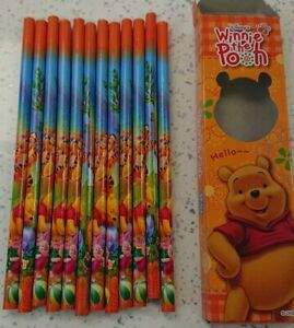 Winnie the Pooh Pencils Multi Colour HB Pack of 12 - Ideal Party Bag Filler