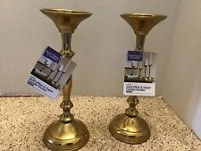 "Better Homes & Gardens 10.5"" Gold Pillar & Taper Candle Holders"