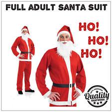 Adulto SANTA SUIT Babbo Natale Costume Deluxe Da Uomo Costume Per Natale