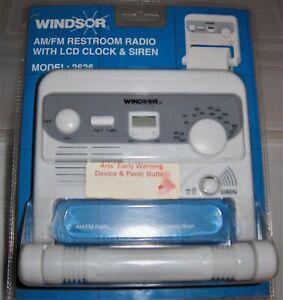 Vtg Windsor Toilet Paper Holder with built in Am Fm Radio, Emergency Siren R533