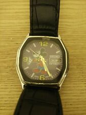 Vintage Disney Seiko Watch Mickey Mouse automatic rare purple face