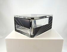 ORIGINAL ART DECO MODERNISM BOHEMIAN GLASS CUT JEWELRY BOX BY KARL PALDA