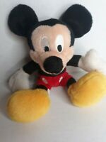 "Disney Store Core Mickey Mouse 7.5"" Plush & Beans Good Condition Vtg"
