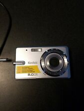 Kodak EasyShare M883 8.0Mp Digital Camera Silver with data cord Tested Working