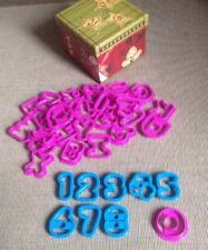 Wilton Alphabet & Numbers Set Cookie Cutters Holidays Kid Friendly