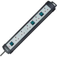 Brennenstuhl Premium-Line 5-Way Extension Lead & 3 Switches - BRAND NEW