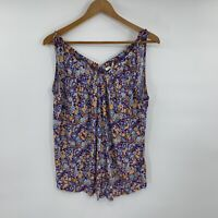Anthropologie Pure & Good Womens Tank Top Size M Floral Print Jersey Shirt B10