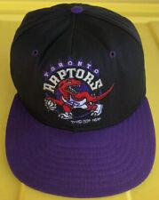 Vintage 90s 1994 Toronto Raptors Snapback Hat Cap NBA AJD USA Made Two Tone