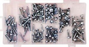 SELF DRILLING HEX HEAD TAPPER TAPPING SCREW TAPPERS BOLT SCREWS 120PCS ASSORTED