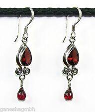 Ohrringe / Ohrhänger aus Silber 925 mit echtem Granat / Sterlingsilber