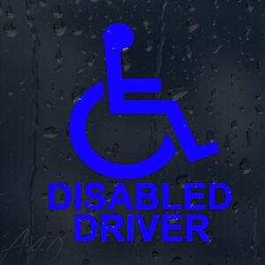 Wheelchair Disabled Driver Car Windscreen Body Panel Wall Decal Vinyl Sticker