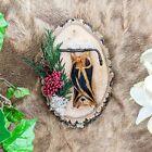 W101c (KP) Taxidermy Oddities Curiosities BAT specimen wood disk collectible