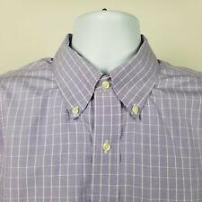 Brooks Brothers Regular Fit Non Iron Lavender Purple Check Dress Shirt Sz 17 6/7