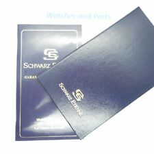 Schwarz Etienne Warranty Guarantee Booklet GENUINE