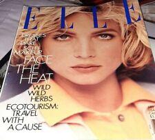 Elle Magazine July 1991 Fashion Vintage Model Rachel Williams Calvin Klein