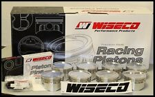 SBC CHEVY 421 WISECO FORGED PISTONS & RINGS 4.155 -13cc DISH TOP KP515A3