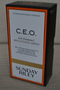 BNIB Sunday Riley C.E.O. 155 Vitamin C Brightening Serum 30ml RRP £70