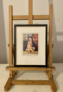 Peter Blake Christmas Card Ltd Edition Signed & Inscribed Hand Finished Glitter