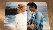 OLIVIA NEWTON-JOHN / TRAVOLTA @ beach Centerfold magazine POSTER  17x11 inches