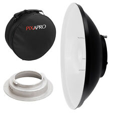 42cm White Beauty Dish with Padded Carry Case (Broncolor B) Studio Location Bag