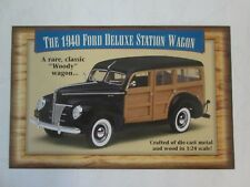 Danbury Mint Brochure 1940 Ford Deluxe Station Wagon