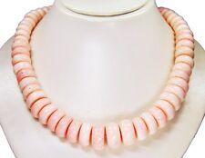 Wunderschöne Koralle-Kette Buttonform in verschiedenen Größen 52 cm lang