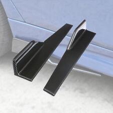 Universal Kfz Seitenflügel Set 45CM Seitenschürze-Flügel Splitter Schwarz Carbon