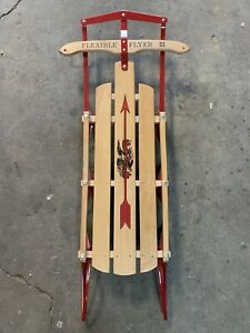 Vintage (Flexible Flyer III) Metal Rail Snow Sled