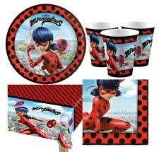 Official MIRACULOUS LADYBUG Party Kit for 8 16 24 32 Guests Birthday Tableware