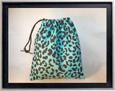 Gymnastics Leotard Grip Bags / Turquoise Cheetah Gymnasts Birthday Goody Bag
