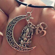 Ganesh Necklace,Om Necklace, Ganesha,Hindu God Necklace,Hindu,Leather Necklace,