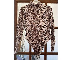 Boohoo Leopard Print Bodysuit