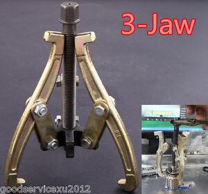 "DIY 3"" 75mm 3 Jaw Car External + Internal Reversible Leg Gear Puller Repair Kit"