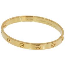 Cartier LOVE Bracelet Bangle Size 17 in K18 Yellow Gold w/Box,Driver D5680