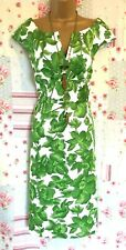 Donna Ricco Shift Dress Green Floral Wedding Occasion Size 14